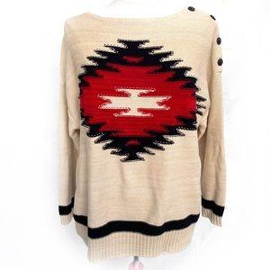 🌸🌵🌼Ralph Lauren | Aztec Sweater 1X